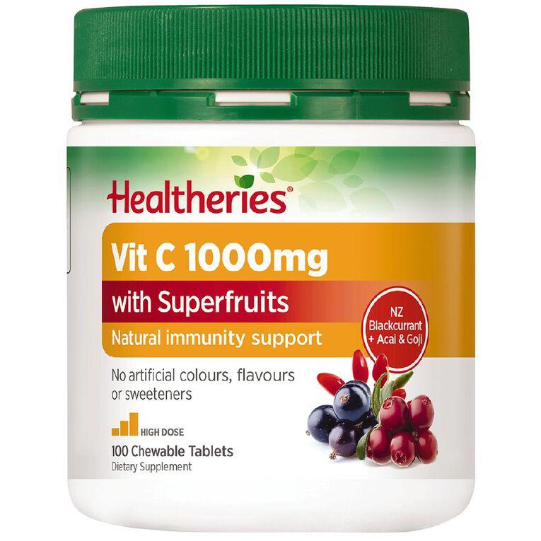 Healtheries Vitamin C + Superfruits 1000mg 100s, , hi-res