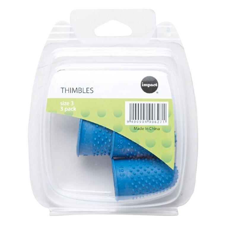 Impact Thimbles Size 3 Each 3 Pack, , hi-res