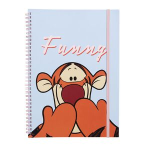 Disney Winnie the Pooh Softcover Notebook Funny Blue Light A4