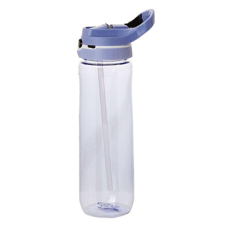 Living & Co Flip Top Sipper Bottle Purple 750ml, , hi-res