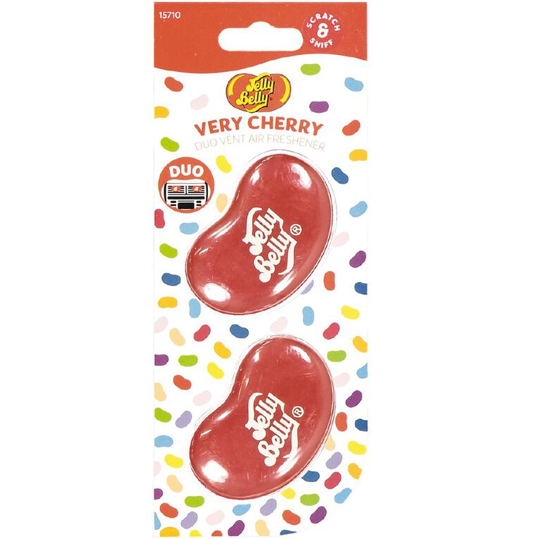 Jelly Belly Duo Mini Vent Mount Car Air Freshener Cherry Scent, , hi-res