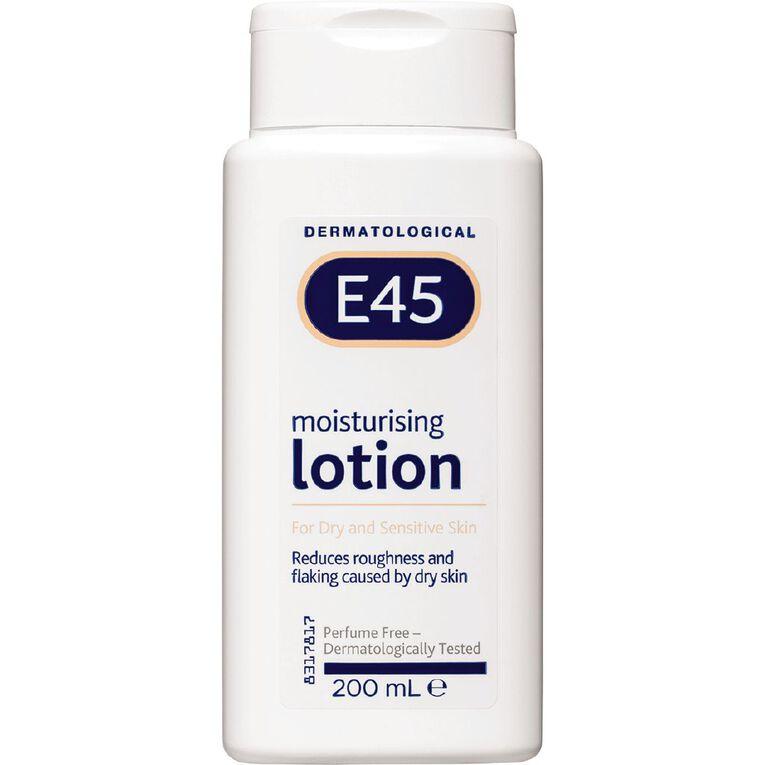 Dermatological E45 Moisturising Lotion 200ml, , hi-res