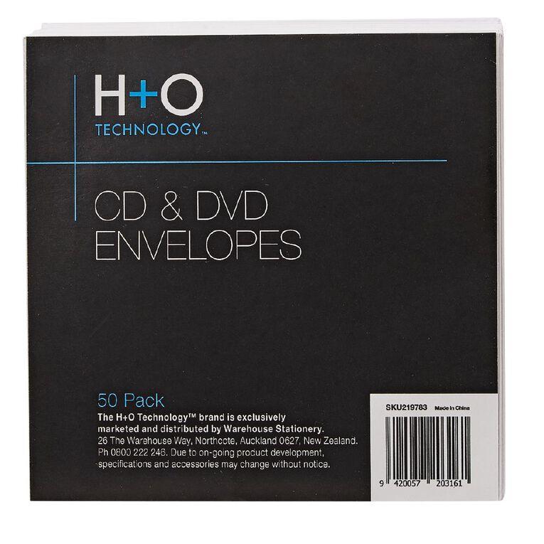 H+O White Paper Envelope For Single Disc 50-Pack, , hi-res