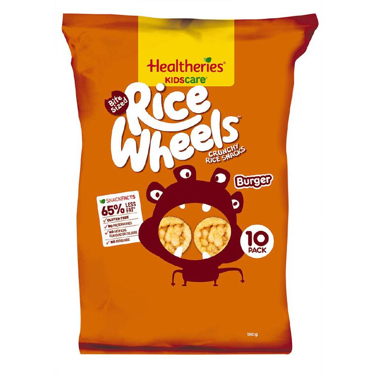 Healtheries Rice Wheels Burger 10 Pack, , hi-res