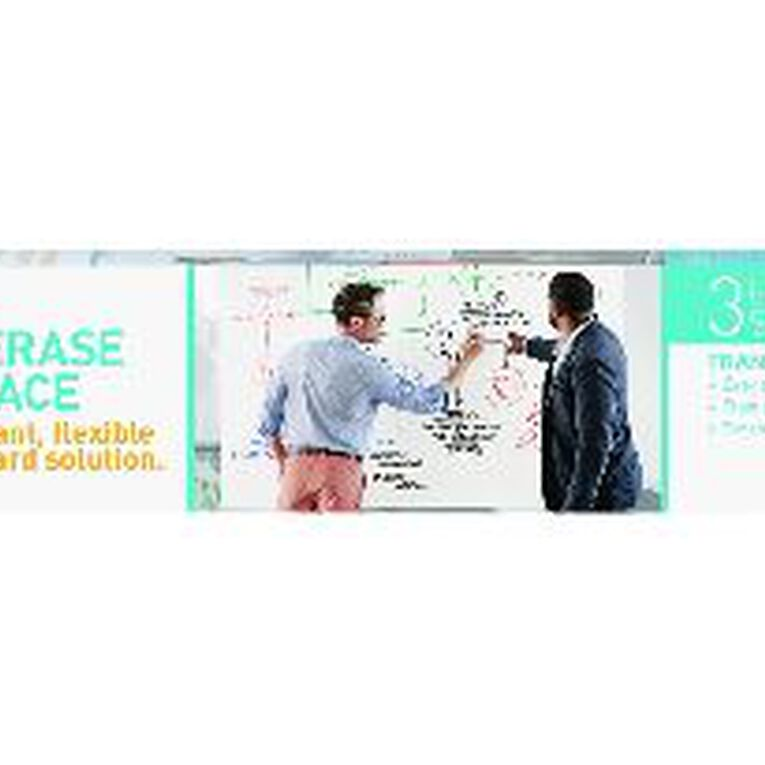 Post-It Dry Erase Surface Whiteboard Film Roll 900 x 600mm White, , hi-res