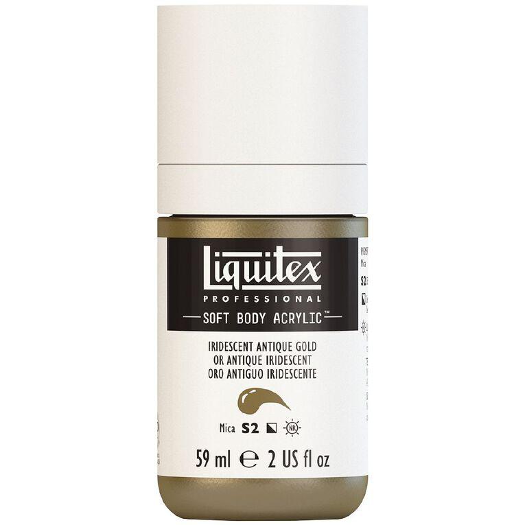 Liquitex Soft Body Acrylic 59ml Irid Antique Gold S2, , hi-res