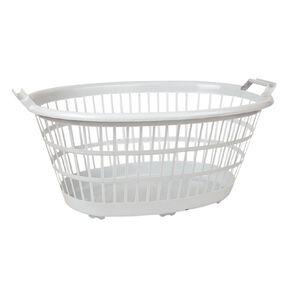 Living & Co Laundry Basket White 35L