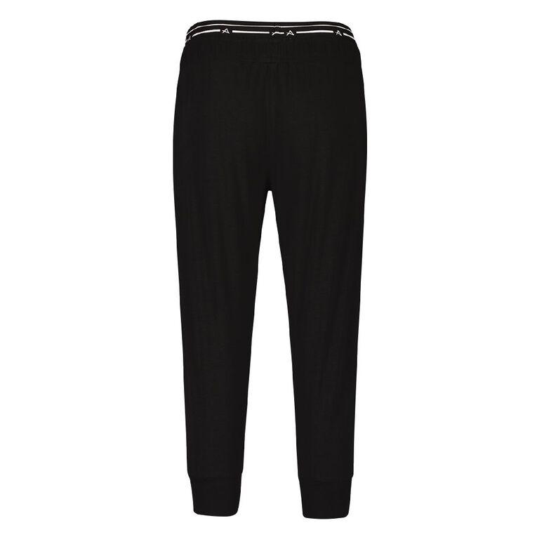Active Intent Women's Crop Elastic Harem Pants, Black, hi-res