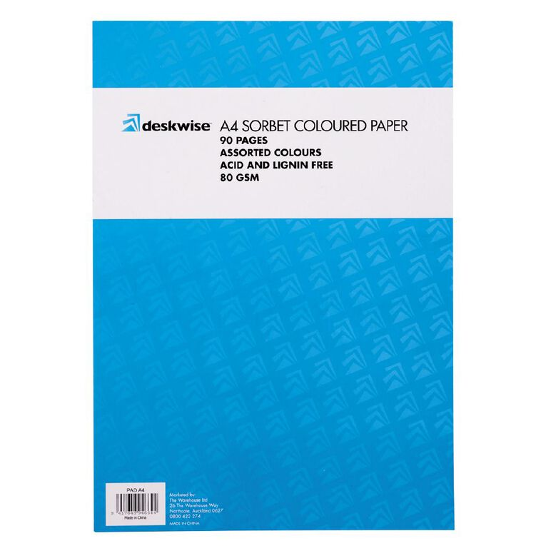 Deskwise Paper Pad Sorbet A4 90 Page, , hi-res