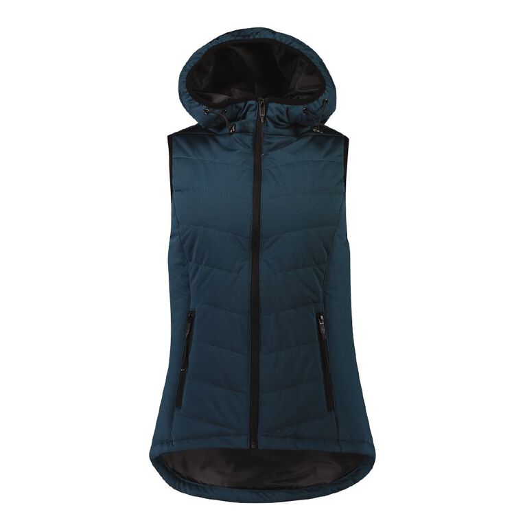Active Intent Women's Marle Puffer Vest, Blue Dark, hi-res