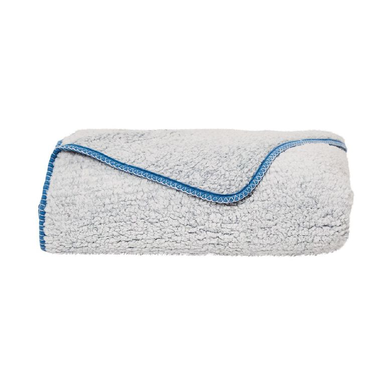 Living & Co Blanket Sherpa Teddy Arona Blue One Size, , hi-res