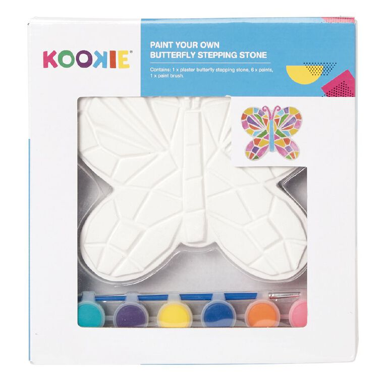 Kookie Paint Your Own Plaster Stepping Stone Butterfly, , hi-res