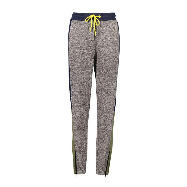 Active Intent Kids' Colour Block Pants, Grey Mid, hi-res