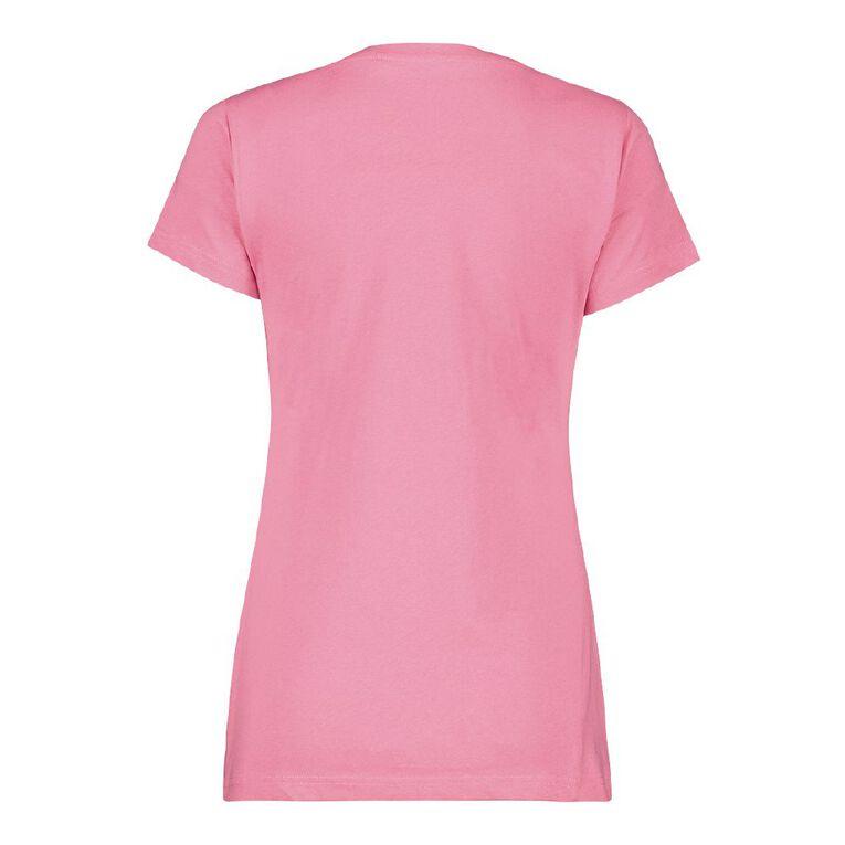 H&H Women's Crew Neck Tee, Pink, hi-res