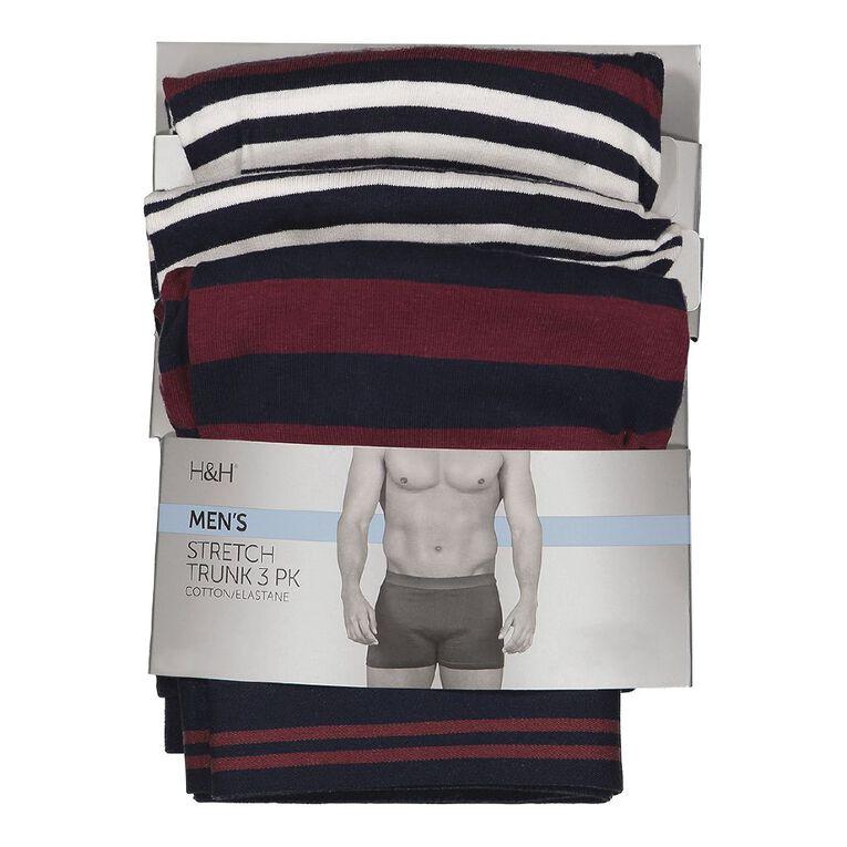 H&H Men's Stretch Boxer 3 Pack, Blue Dark, hi-res