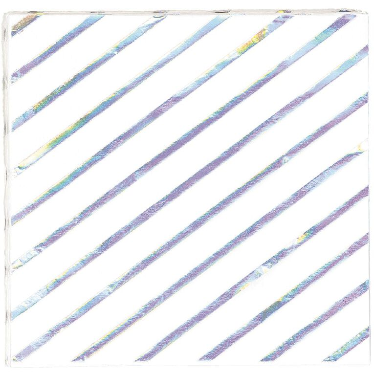 Artwrap Napkins Iridescent 33cm x 33cm 2 Ply 10 Pack, , hi-res