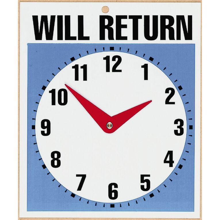 Headline Sign Will Return Clock, , hi-res