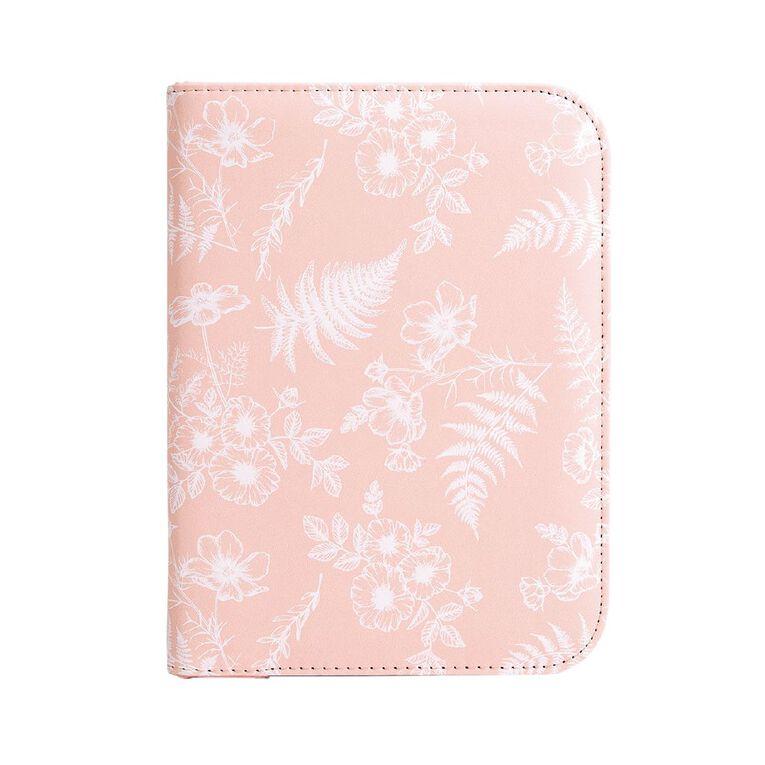 Uniti Kiwi Breeze Journel PU Zipped Floral Pink, , hi-res
