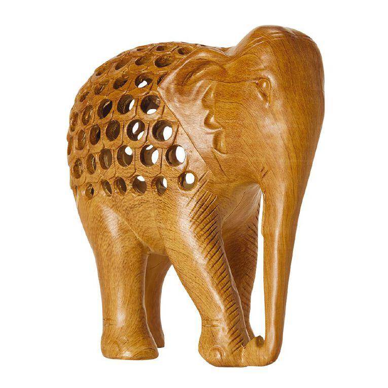 Living & Co Elephant Cutout Ornament Natural, , hi-res