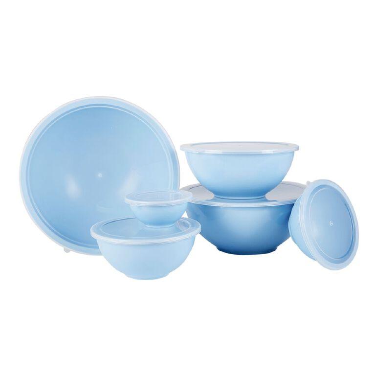 Living & Co Melamine Mixing Bowl Set Blue 6 Pack, , hi-res