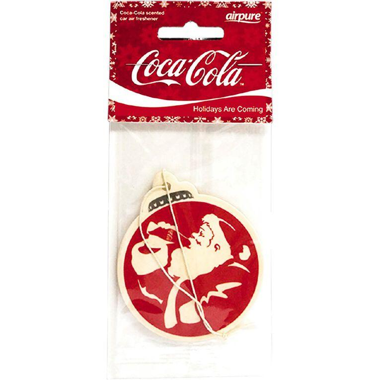 Coca Cola Single Air Freshner Christmas Original Santa, , hi-res image number null