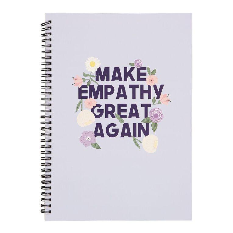 Uniti Blossom Spiral Notebook Purple A4, , hi-res