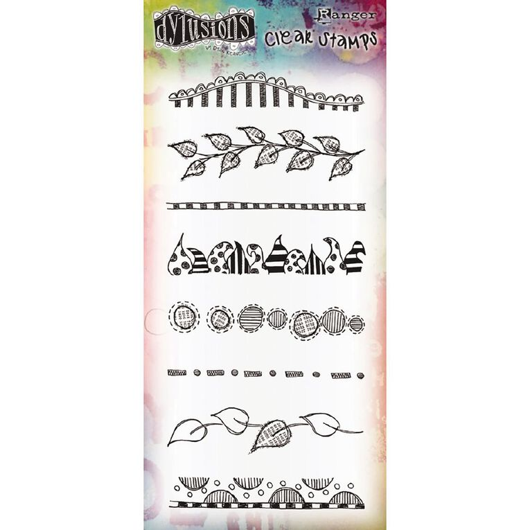 Ranger Dylusions Stamp Clearly Borders, , hi-res