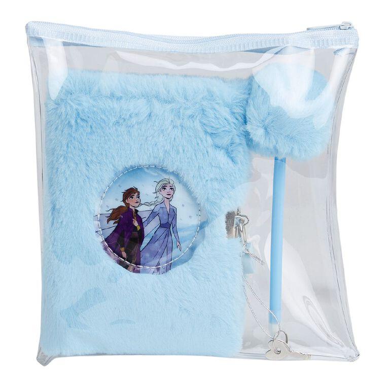Frozen Disney Fluffy Notebook Lockable Set Blue Light A5, , hi-res