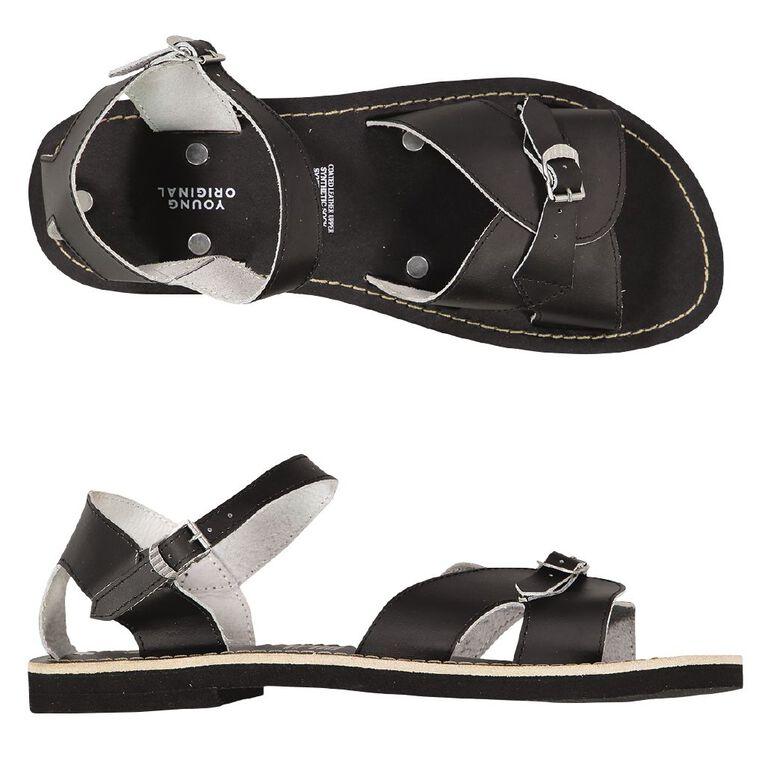 Young Original Senior Roman Sandals, Black, hi-res