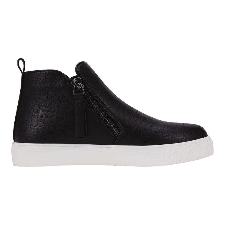 Young Original Zip Kids' Casual Shoes, Black, hi-res image number null