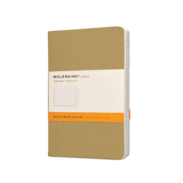Moleskine Cahier Notebook Ruled Kraft 3 Pack, , hi-res