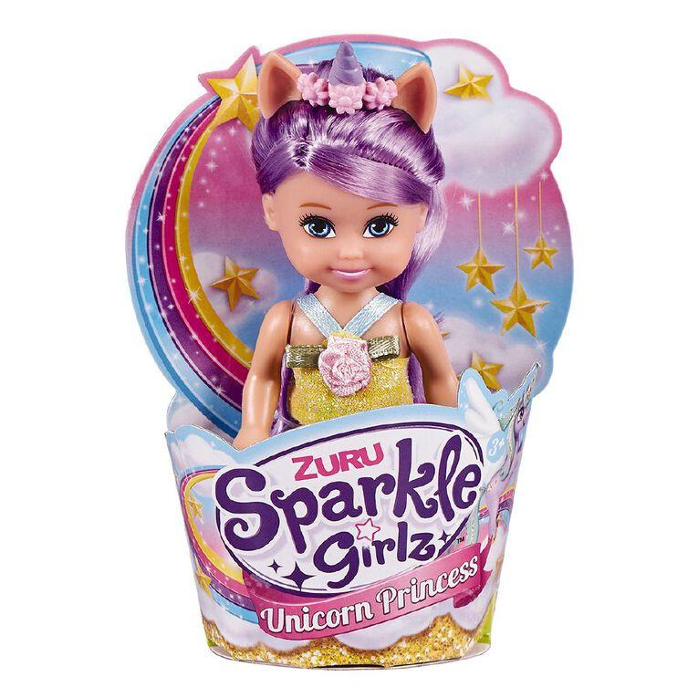 Zuru Sparkle Girlz Unicorn Princess in Cupcake 4 Inch Assorted, , hi-res