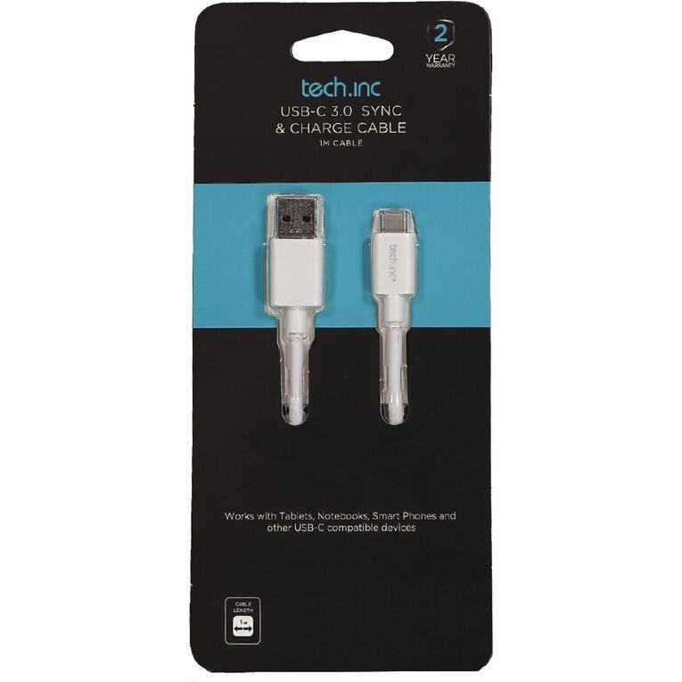 Tech.Inc USB-C 3.0 Cable 1M White, , hi-res