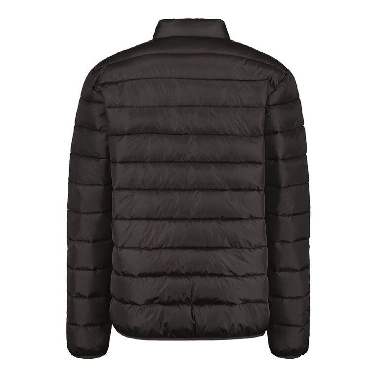 H&H Men's Recycled Puffer Jacket, Black, hi-res