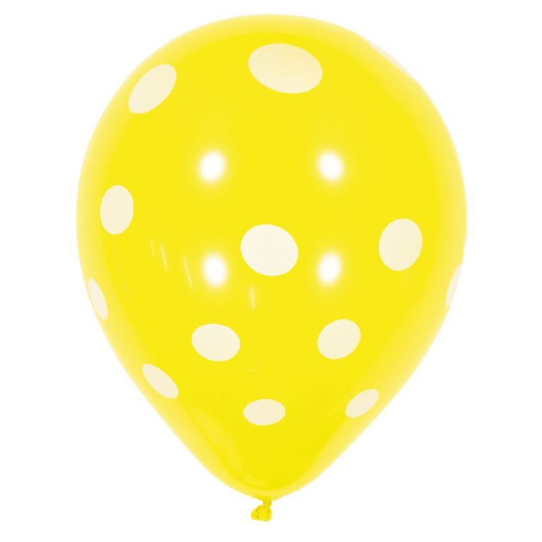 Artwrap Printed Balloons Spot Assorted 30cm 10 Pack, , hi-res