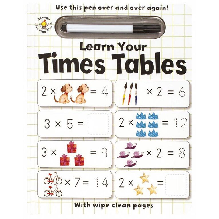 Wipe Clean: Learn Your Times Tables, , hi-res