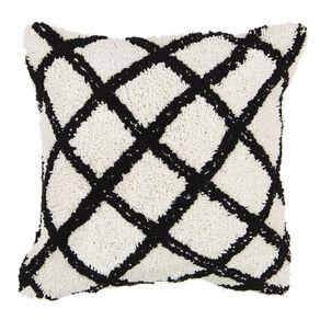 Living & Co Plush Berber Cushion Cream 45cm x 45cm