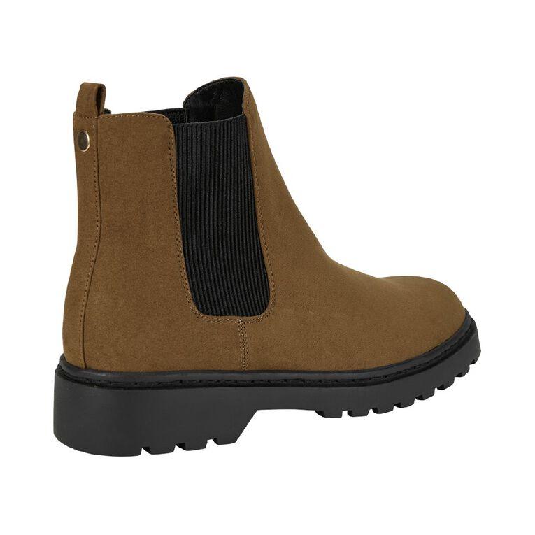H&H Womens' Chelsea Boots, Tan, hi-res
