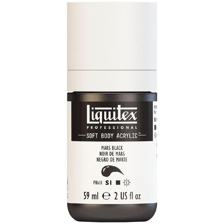 Liquitex Soft Body Acrylic 59ml Mars Black S1, , hi-res