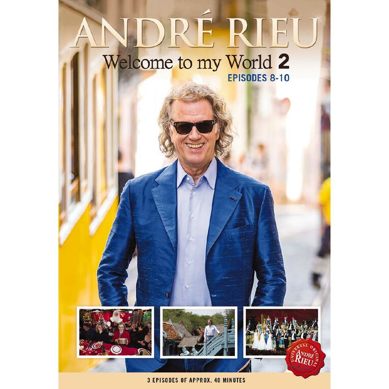 Welcome To My World 2 Ep 8-10 DVD by Andre Rieu 1Disc, , hi-res
