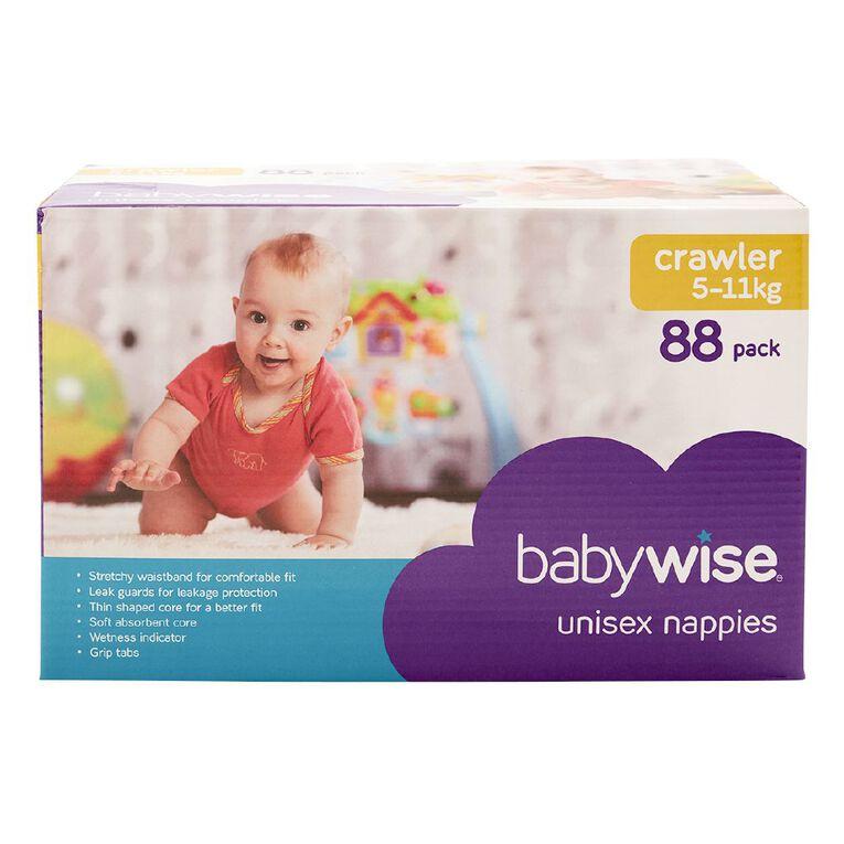 Babywise Jumbo Nappies Crawler 88 Pack, , hi-res