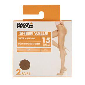 Razzamatazz Light Slimming Briefs 15D 2 Pack