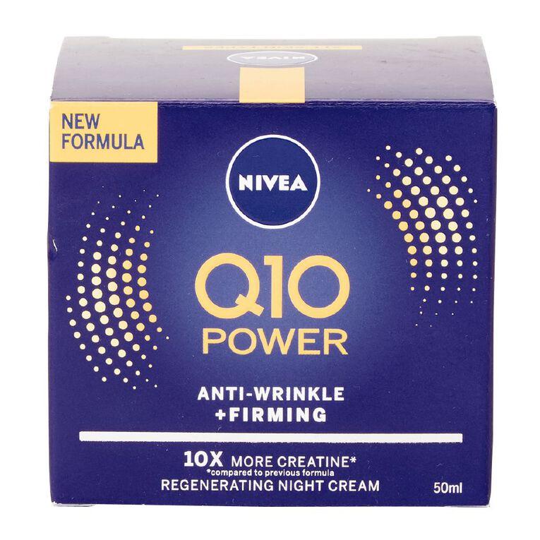 Nivea Q10 Power Anti Wrinkle Night Cream 50ml, , hi-res