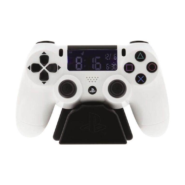 Paladone PlayStation White Controller Alarm Clock, , hi-res