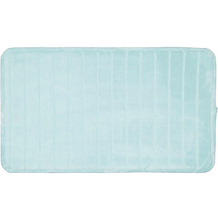 Living & Co Bath Mat Memory Foam Aqua 45cm x 75cm, Aqua, hi-res image number null