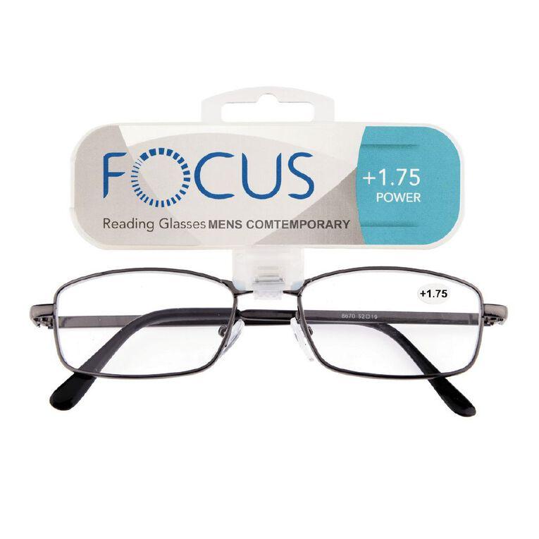 Focus Reading Glasses Men's Contemporary 1.75, , hi-res