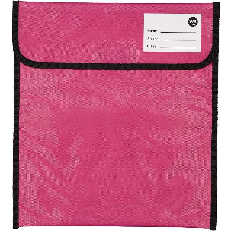 WS Book Bag Zipper Pocket 36cm x 33cm Pink, , hi-res