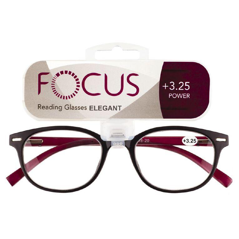 Focus Reading Glasses Elegant Power 3.25, , hi-res