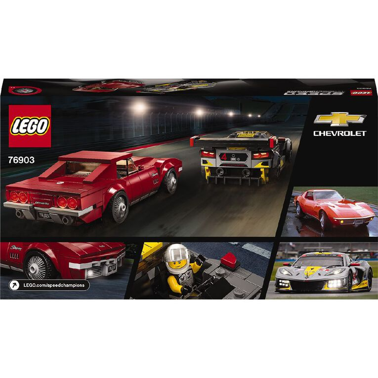 LEGO Speed Champions Chevrolet Corvette C8.R Race Car & 1968 76903, , hi-res