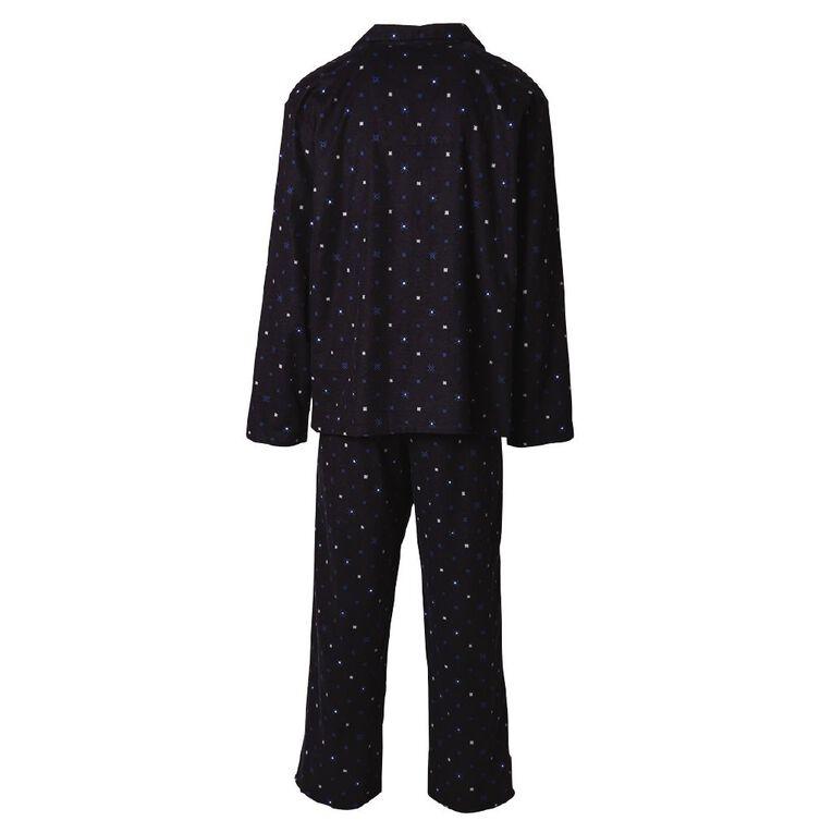 H&H Men's Flannelette Pyjamas, Blue Dark, hi-res image number null